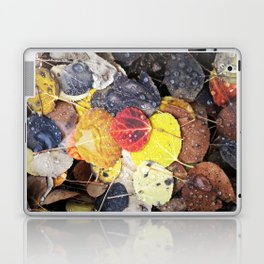 Multicolored Aspen Leaves in Woods Laptop & iPad Skin