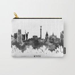Kyiv Ukraine Skyline BW Carry-All Pouch