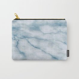Light blue marble texture Carry-All Pouch