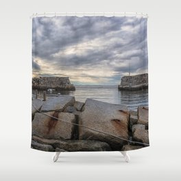Lanes Cove on a cloudy afternoon Shower Curtain