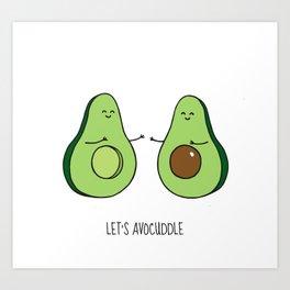 Let's Avocuddle Art Print