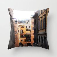 rome Throw Pillows featuring Rome by Anya Kubilus