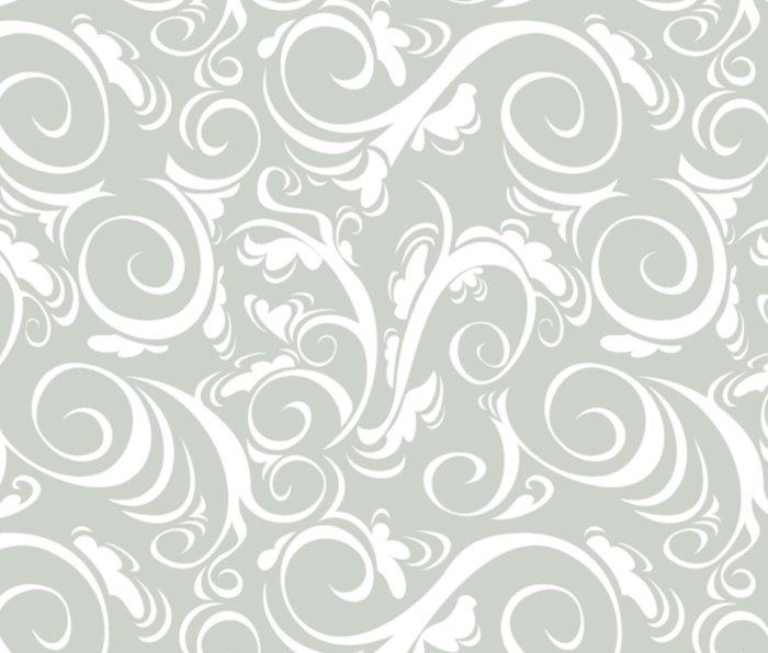 Gray Grey Floral Sea Salt Metal Travel Mug