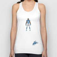 calvin hobbes Tank Tops featuring One Pride - Calvin Johnson by IllSports