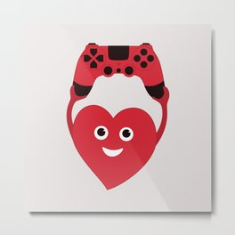 Gaming Heart Metal Print