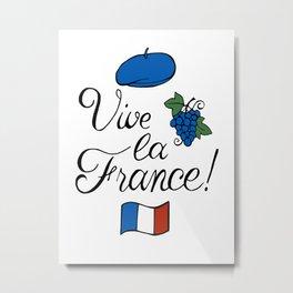 Vive la France! Metal Print