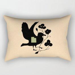 Utah - State Papercut Print Rectangular Pillow