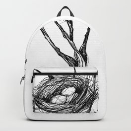 Bird Nest Ink Drawing Backpack