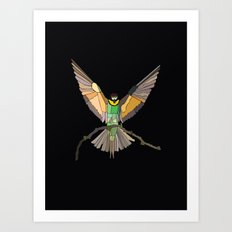 Bird Ripple  Art Print