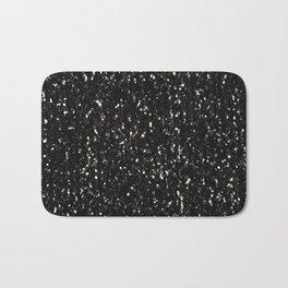 Black and white shiny glitter sparkles Bath Mat