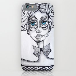Marker & Graphite Illustration by Adrienne Dinopoulos iPhone Case