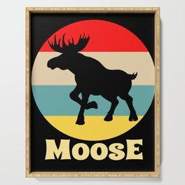 Moose Retro Vintage Colorful Deer Elk Reindeer Serving Tray