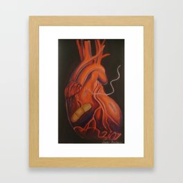 Mended Heart Framed Art Print