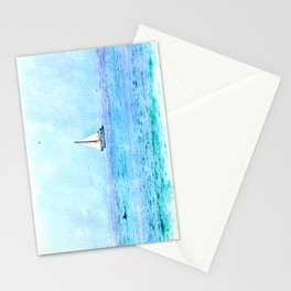Blue Ocean Watercolor Stationery Cards