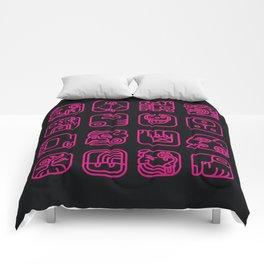 Maya Writing System Comforters