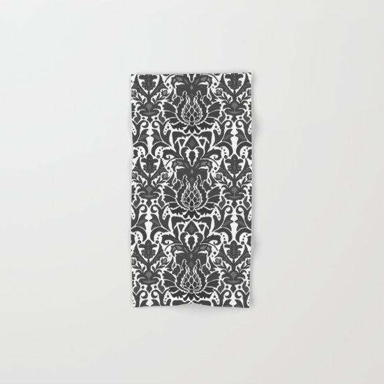 Aya damask mono Hand & Bath Towel