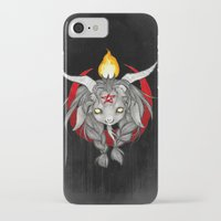 baphomet iPhone & iPod Cases featuring Baphomet V1 by Savannah Horrocks