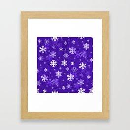 Light Purple Snowflakes Framed Art Print