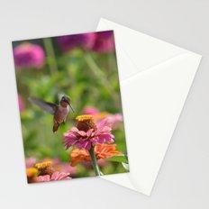 Hummingbird in a Garden Stationery Cards