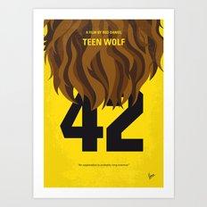 No607 My Teen Wolf minimal movie poster Art Print