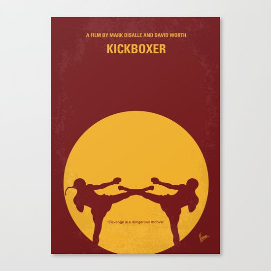 No178 My Kickboxer minimal movie poster Canvas Print