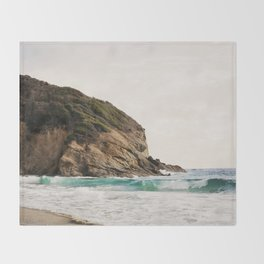 Strands Beach, Dana Point Throw Blanket