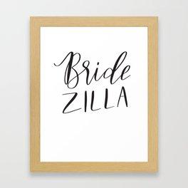 Bridezilla Framed Art Print