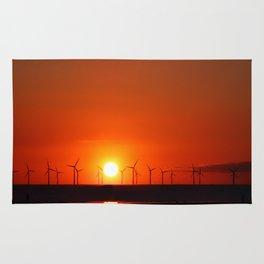 Windmills in the Sun Rug