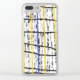 una linea vertical Clear iPhone Case
