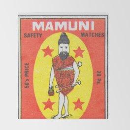 Old Matchbox label #11 Throw Blanket