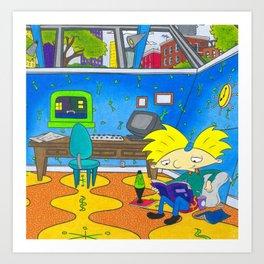 Hey Arnold Nickelodeon 90s Arnolds Room Art Print