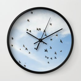 Pigeons in the sky Wall Clock
