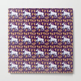 UNICORN PIZZA PATTERN PARTY Metal Print