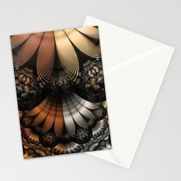 Autumn Fractal Pheasant Feathers in DaVinci Style Stationery Cards
