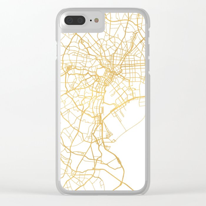 TOKYO JAPAN CITY STREET MAP ART Clear iPhone Case