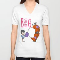 big hero 6 V-neck T-shirts featuring 21 - BIG HERO 6 by Jomp