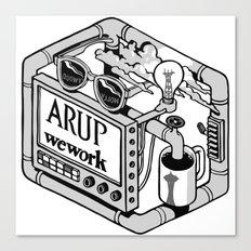 Arup WeWork West Project Patch Canvas Print
