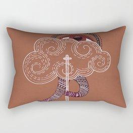 surreal creatue with cloud mask Rectangular Pillow