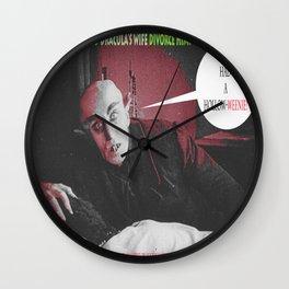 "'Count Orlock, the Vampire #3' from "" Nosferatu vs. Father Pipecock & Sister Funk (2014)"" Wall Clock"