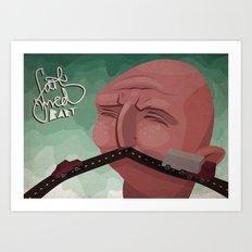 Mustache speed Art Print