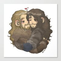 hug Canvas Prints featuring Hug by ScottyTheCat