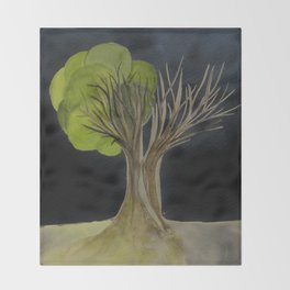 Duality Tree Throw Blanket