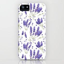 Lavender Purple Dream Watercolor Pattern iPhone Case