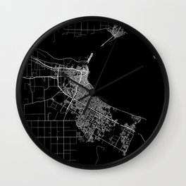 Corpus Christi map Texas Wall Clock