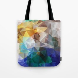 Abstract background of triangles polygon print. Bright design colors Tote Bag