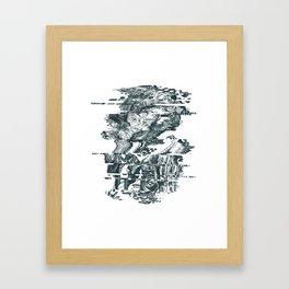 glitch1 Framed Art Print