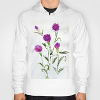 freud Hoodies featuring You Know What Freud Said About Carnations by Kate Havekost Fine Art