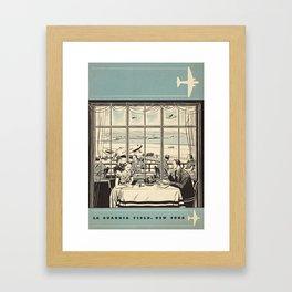 New York La Guardia Airport Restaurant Menu, June 1940 Framed Art Print