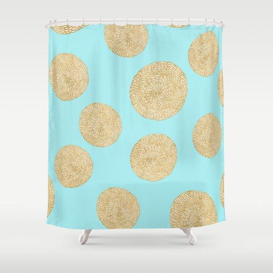 Straw Cushion Pattern Shower Curtain