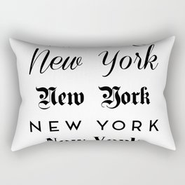 New York City Quote Sign, Digital Download, Calligraphy Text Art, World City Typography Print Rectangular Pillow
